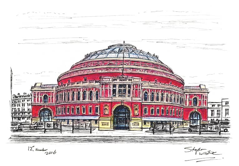 Royal Albert Hall in colour - original drawings and prints by Stephen Wiltshire