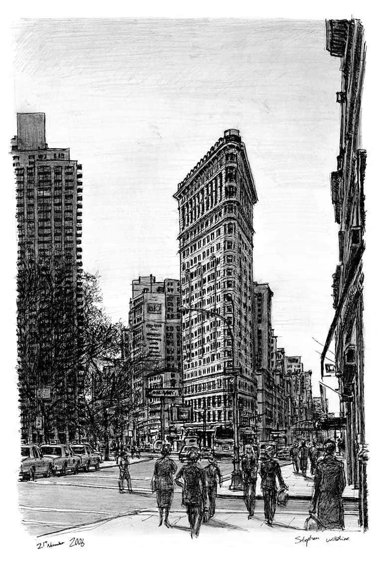 Flat Iron Building NY - originals and prints by Stephen Wiltshire MBE