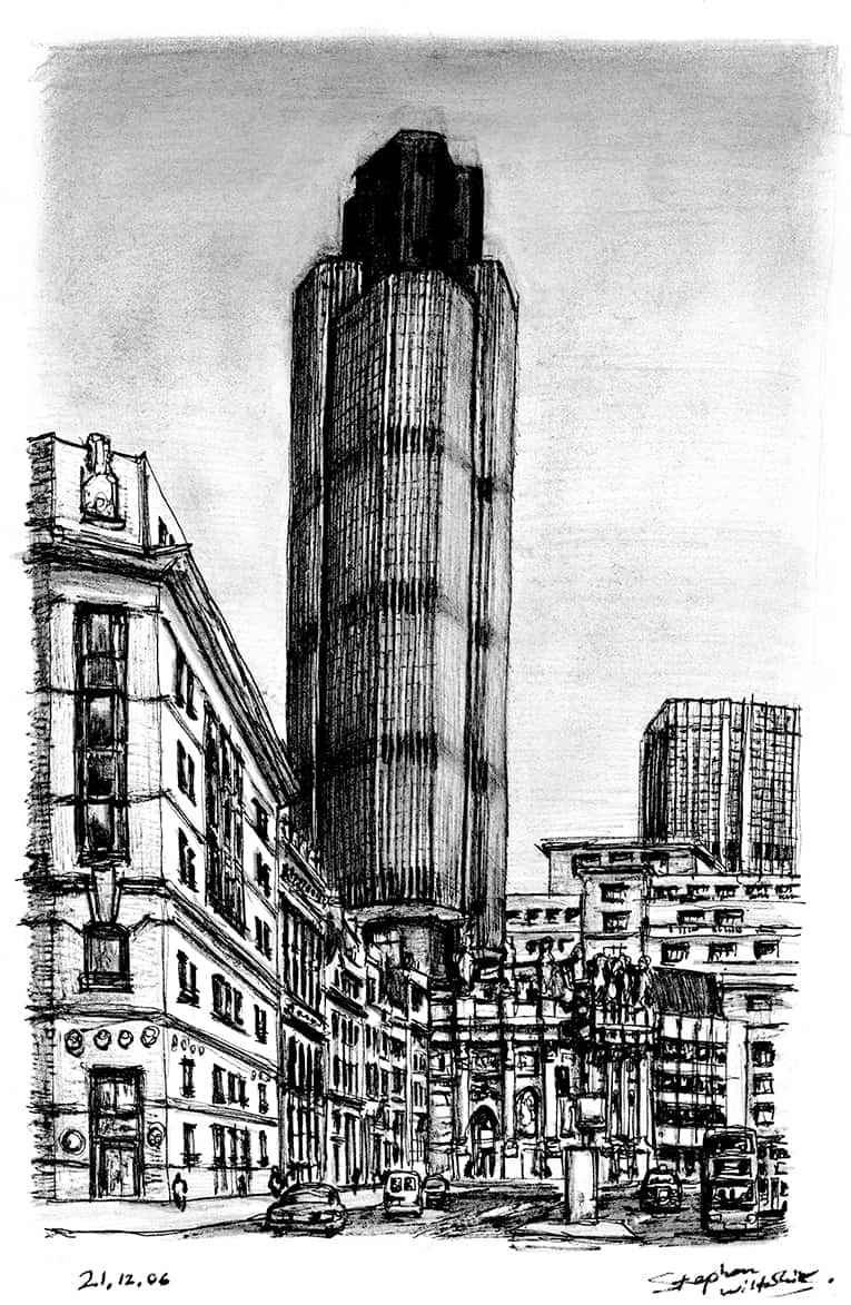 Natwest Tower (Tower 42) - original drawings and prints by Stephen Wiltshire