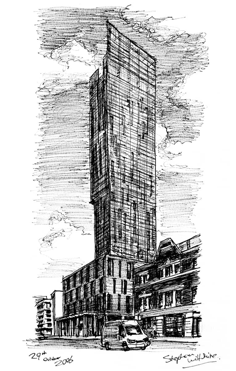 Beetham Tower Manchester - Original drawings, prints and limited editions by Stephen Wiltshire MBE
