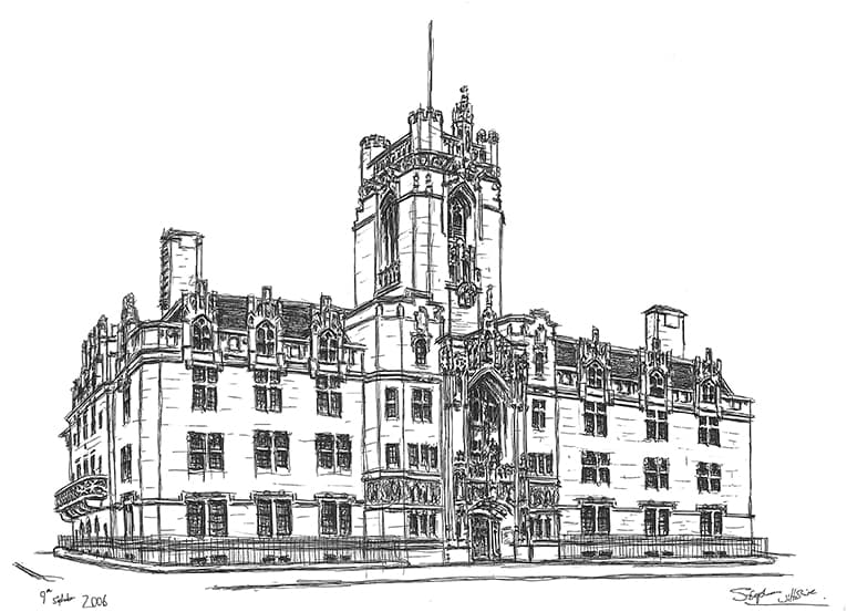 Supreme Court (Middlesex Guildhall) - originals and prints by Stephen Wiltshire MBE
