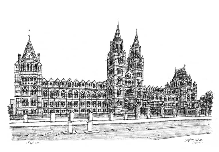 Natural History Museum - originals and prints by Stephen Wiltshire MBE