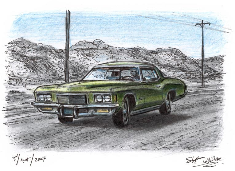 1971 Buick Riviera - original drawings and prints for sale