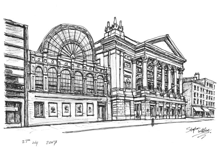 Royal Opera House in Covent Garden - originals and prints by Stephen Wiltshire MBE