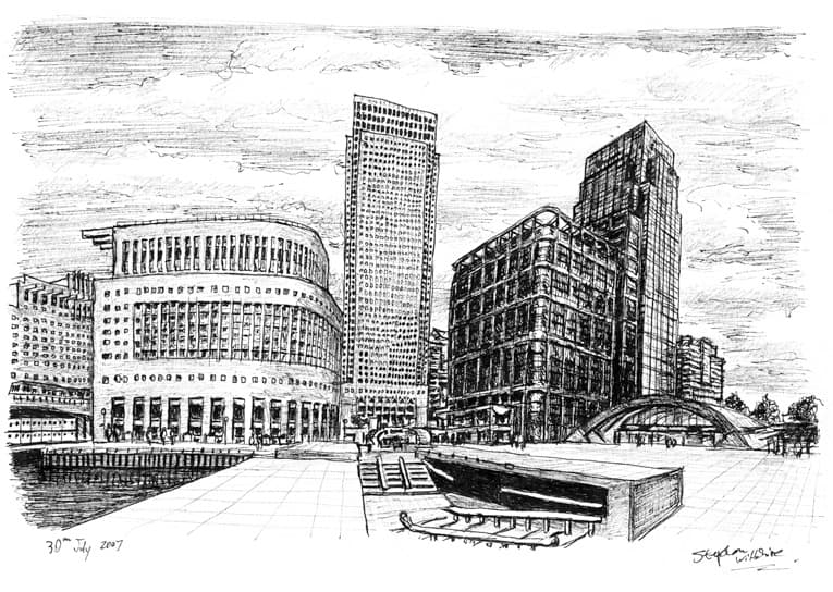 Canary Wharf 2007 - originals and prints by Stephen Wiltshire MBE
