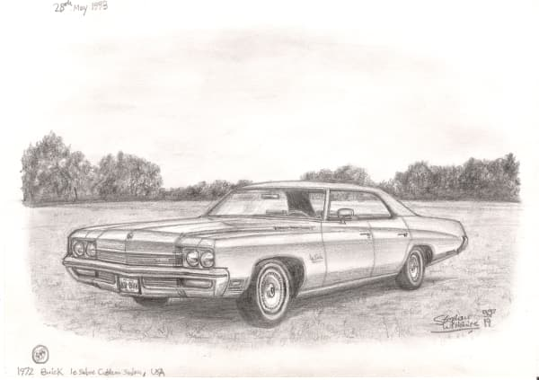 1972 Buick Le Sobre - original drawings and prints by Stephen Wiltshire