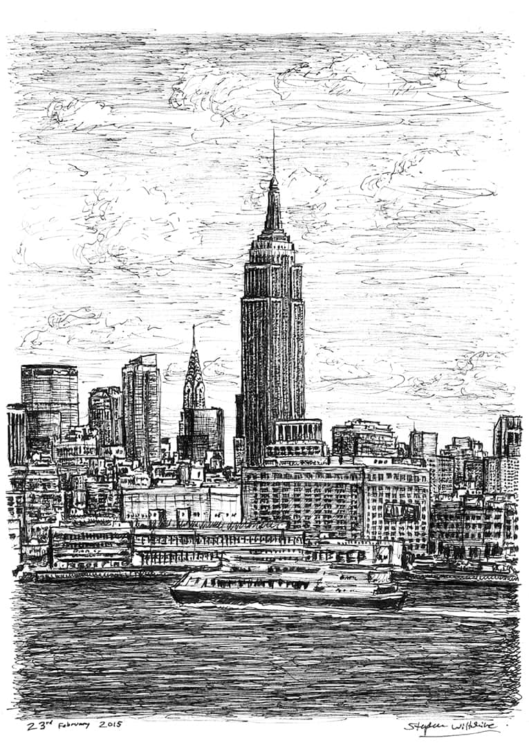 Empire State Building NYC - originals and prints by Stephen Wiltshire MBE