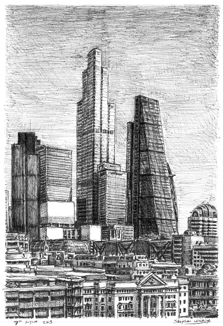 22 Bishopsgate (A4 print) with White mount (A4)