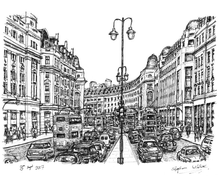 Regent Street London - originals and prints by Stephen Wiltshire MBE