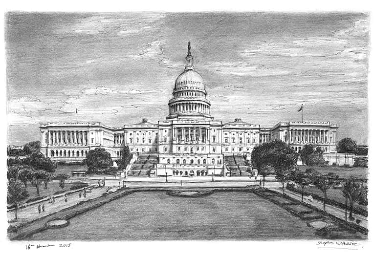Capitol Hill - original drawings and prints by Stephen Wiltshire