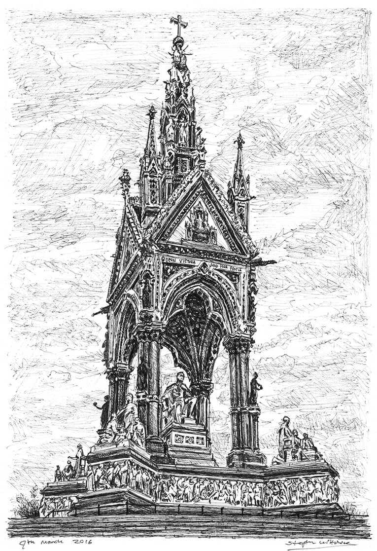 The Albert Memorial - originals and prints by Stephen Wiltshire MBE