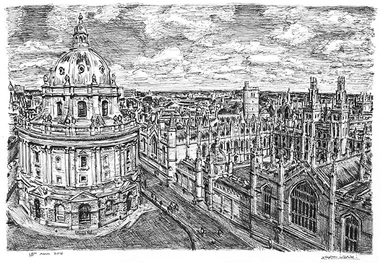 Oxford - originals and prints by Stephen Wiltshire MBE