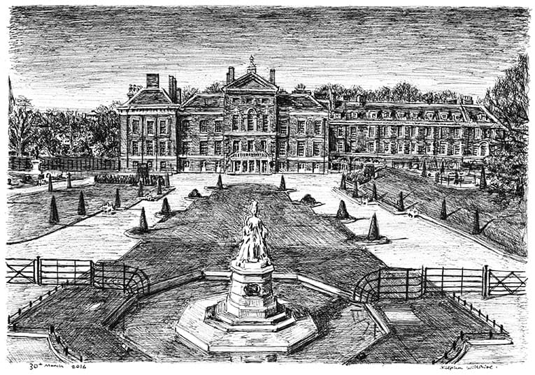 Kensington Palace Gardens (A4 print) with White mount (A4)