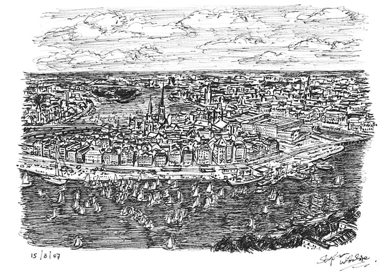 Stockholm - originals and prints by Stephen Wiltshire MBE