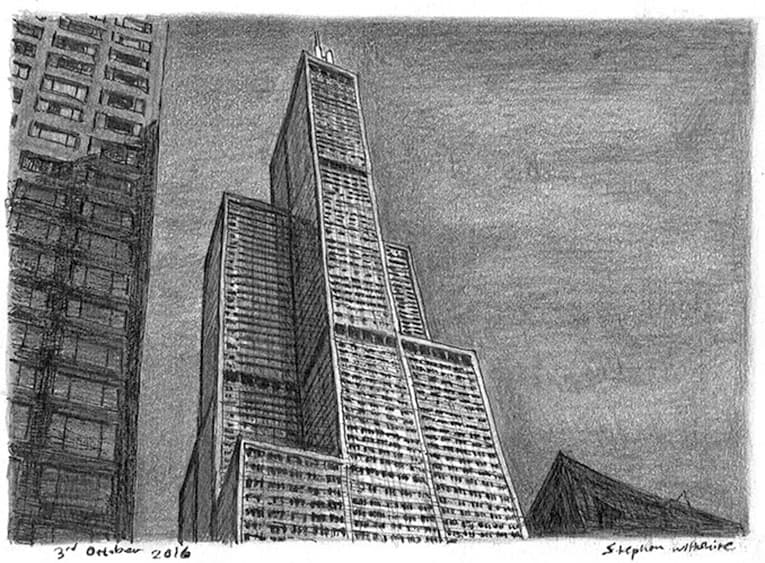 Sears Tower (Chicago USA) - Original drawings, prints and limited editions by Stephen Wiltshire MBE