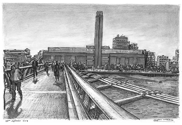 Tate Modern - originals and prints by Stephen Wiltshire MBE
