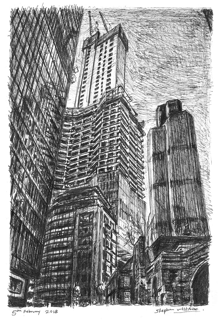 22 Bishopsgate, City of London - originals and prints by Stephen Wiltshire MBE