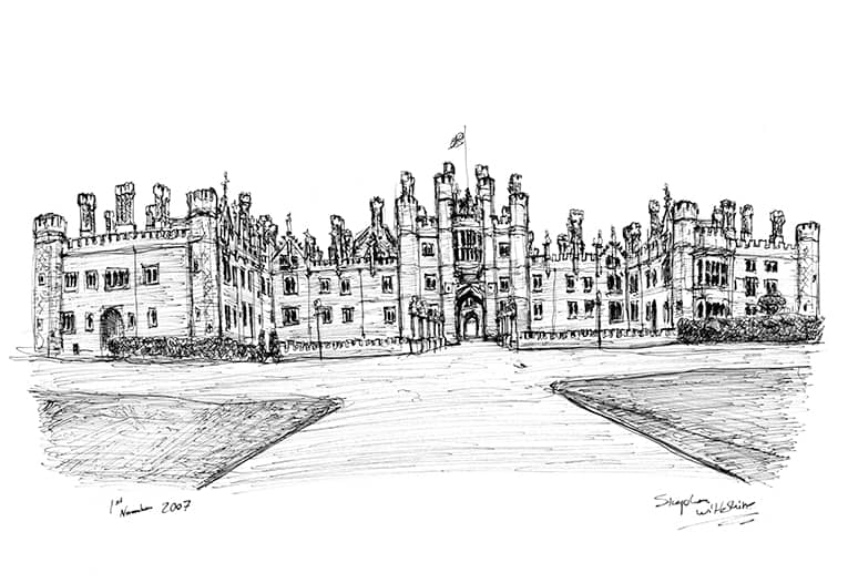 Hampton Court - original drawings and prints by Stephen Wiltshire