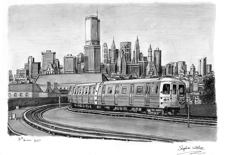 New York Subway Train - originals and prints by Stephen Wiltshire MBE