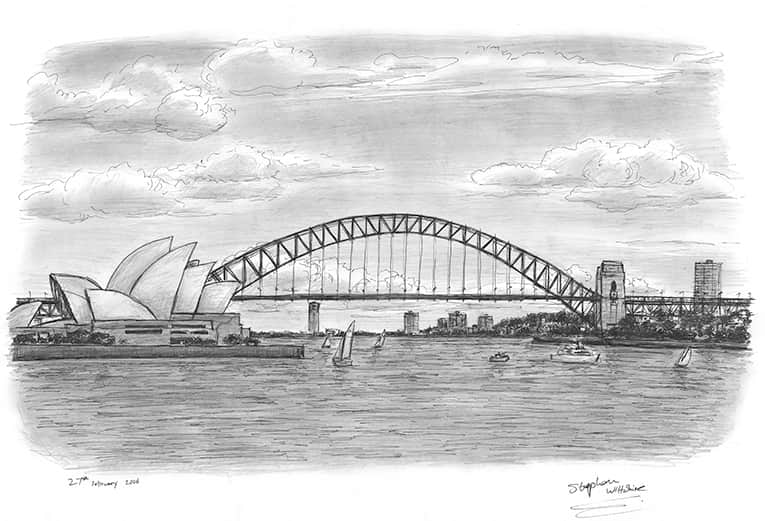 Sydney Harbour - original drawings and prints for sale