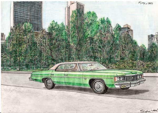 1974 Chevy Impala - Original Drawings and Prints for Sale