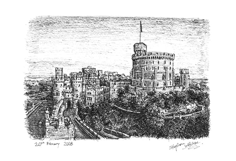 Windsor Castle - originals and prints by Stephen Wiltshire MBE