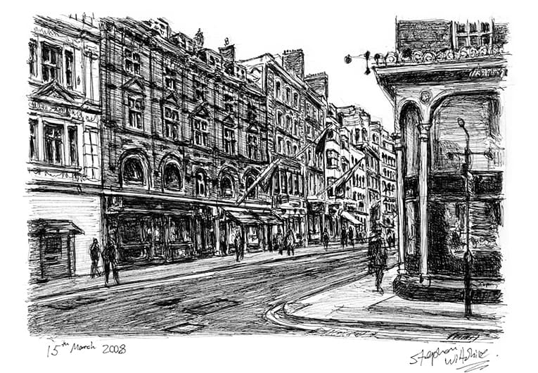 Old Bond Street, London - originals and prints by Stephen Wiltshire MBE