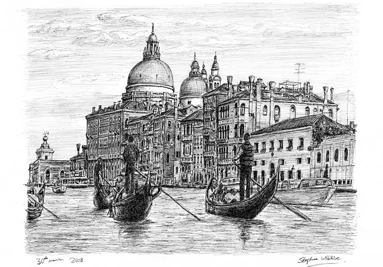 Venice, Italy - originals and prints by Stephen Wiltshire MBE