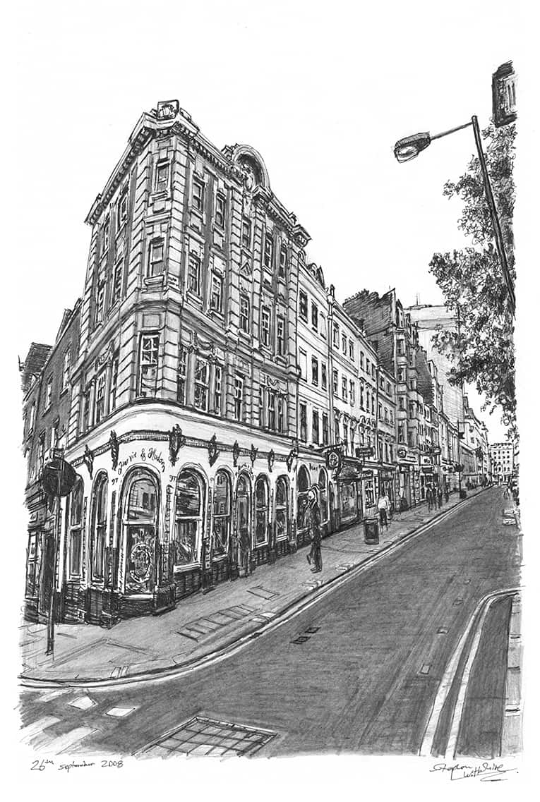 Jermyn Street, London - drawings and paintings by Stephen Wiltshire MBE