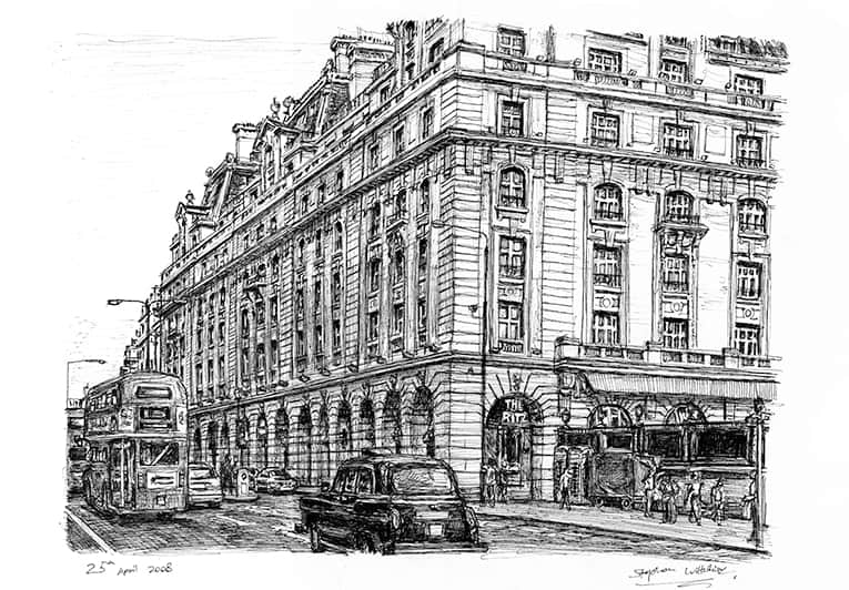 The Ritz Hotel, Piccadilly, London - originals and prints by Stephen Wiltshire MBE