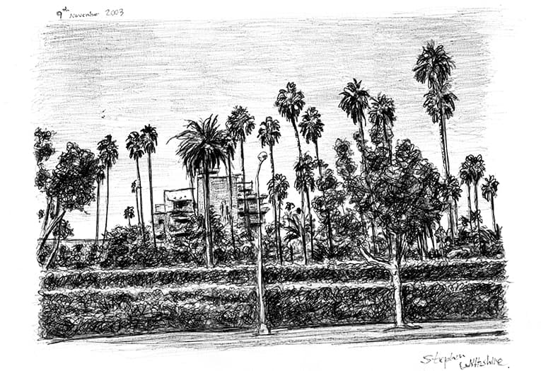 Beverly Hills 2003 with White mount (A4) in Flat grain black frame for A4 mounts (J90)
