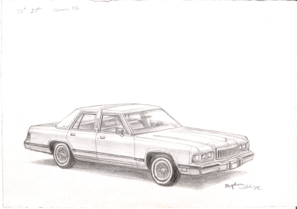 1988-90 Mercury Grand Marquis - originals and prints by Stephen Wiltshire MBE