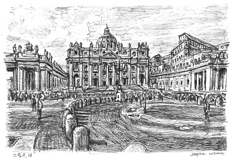 Vatican City - originals and prints by Stephen Wiltshire MBE