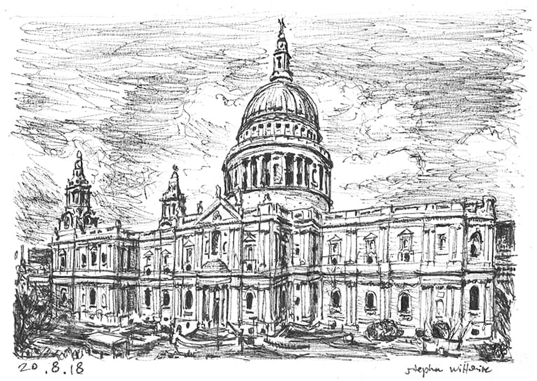St Pauls Cathedral, London - originals and prints by Stephen Wiltshire MBE