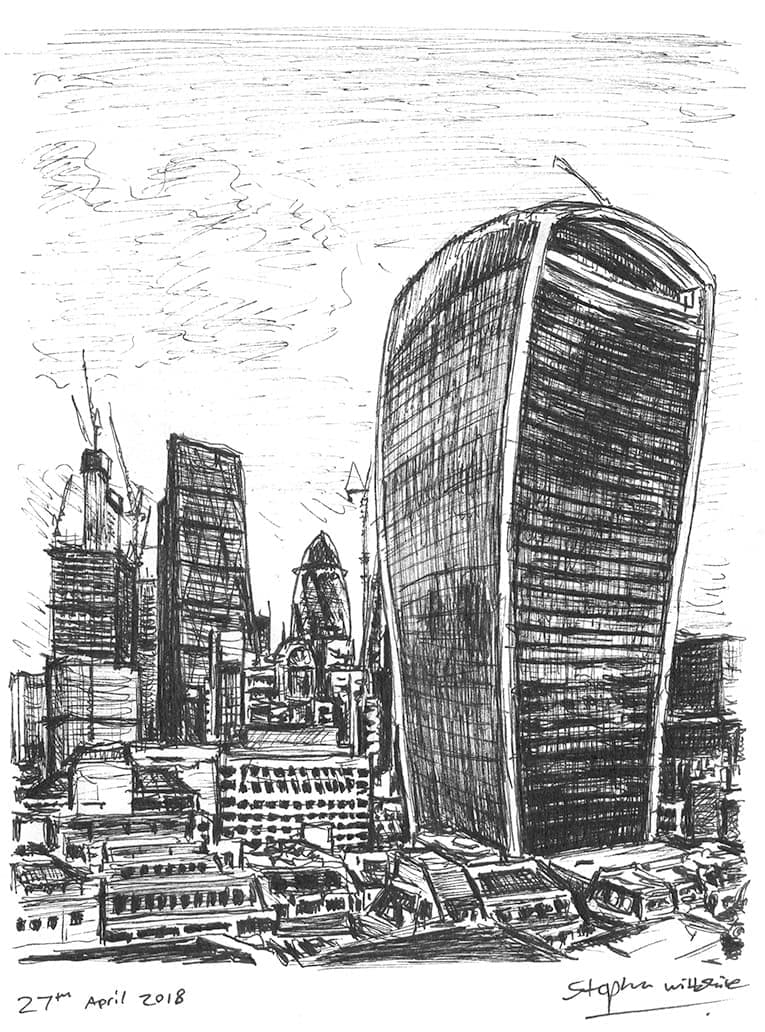 20 Fenchurch Street, City of London - originals and prints by Stephen Wiltshire MBE