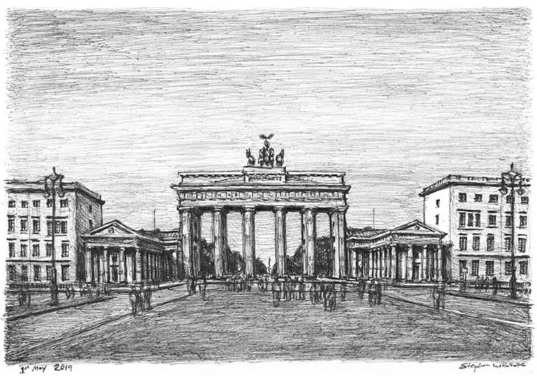 Brandenburg Gate, Berlin - originals and prints by Stephen Wiltshire MBE