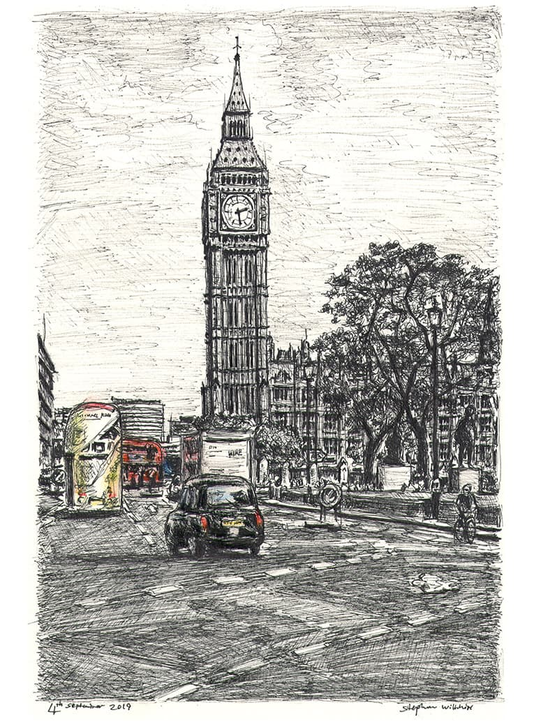 Big Ben - original drawings and prints by Stephen Wiltshire