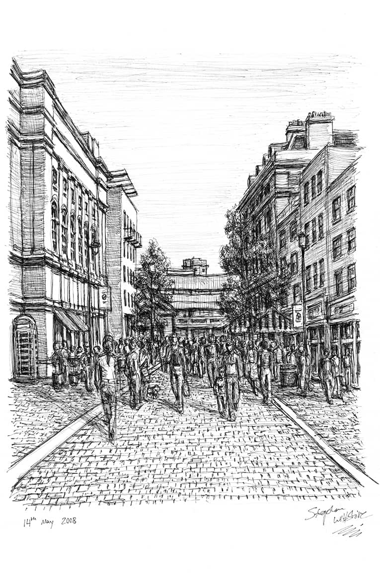 Covent Garden - originals and prints by Stephen Wiltshire MBE
