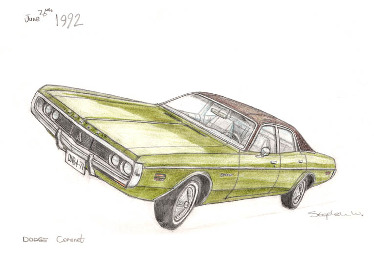 Dodge Coronet - originals and prints by Stephen Wiltshire MBE