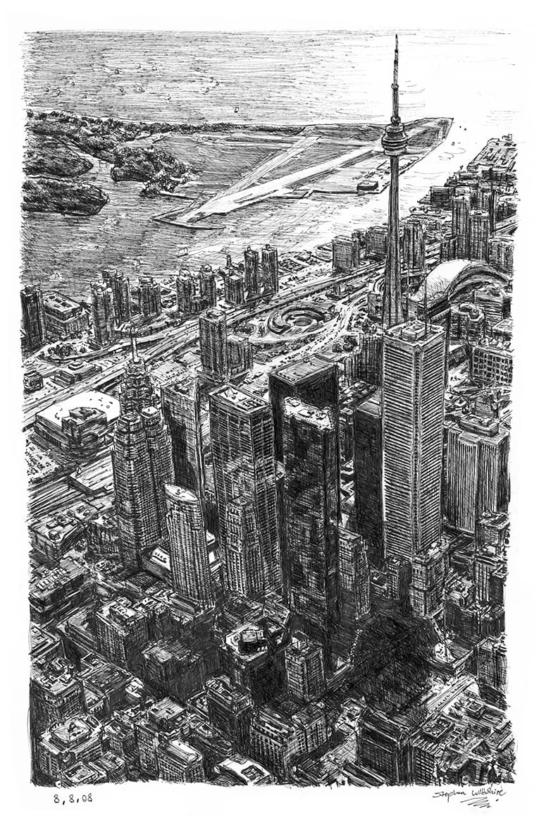 Toronto Skyline - originals and prints by Stephen Wiltshire MBE