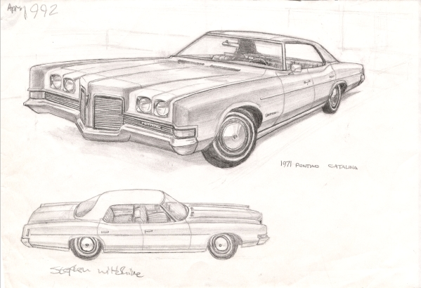 1971 Pontiac Catalina - Original Drawings and Prints for Sale