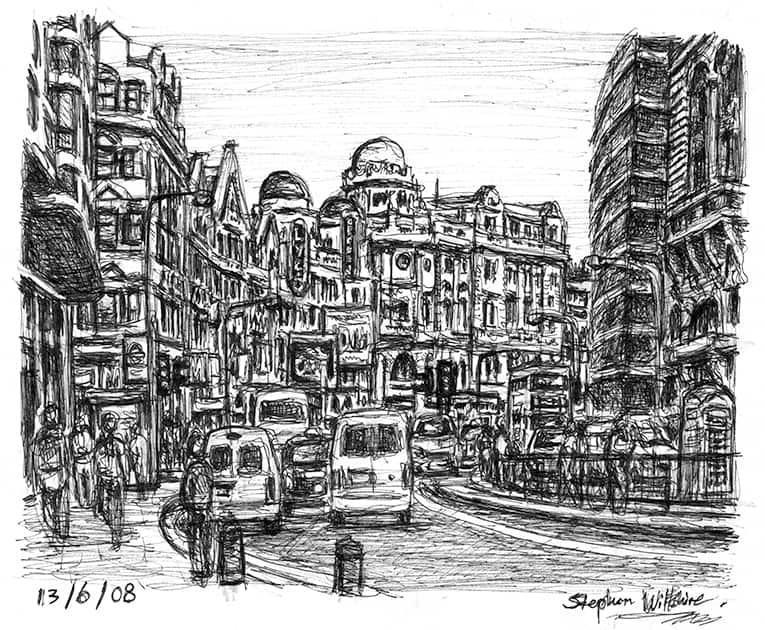 Shaftesbury Avenue - original drawings and prints by Stephen Wiltshire