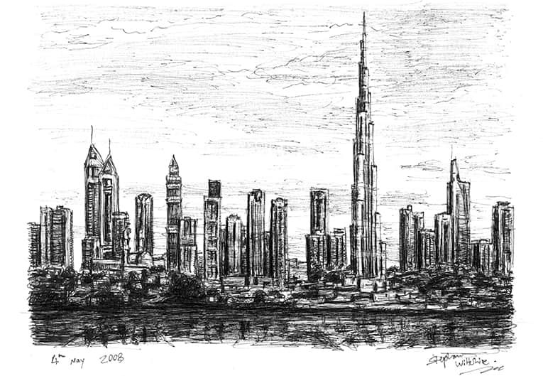 Burj Tower - original drawings and prints for sale
