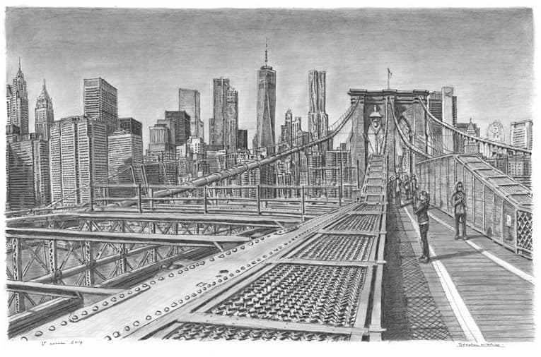 Brooklyn Bridge New York City (Limited Edition of 50) - originals and prints by Stephen Wiltshire MBE