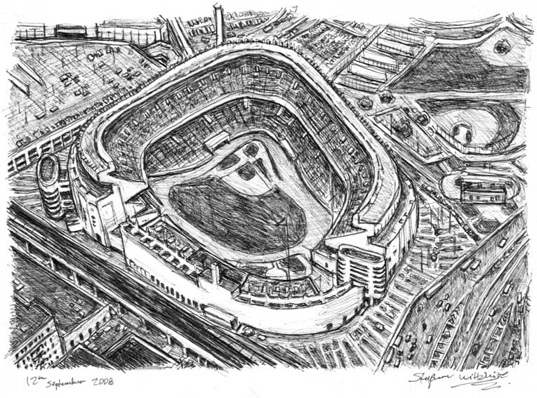 Yankee Stadium - originals and prints by Stephen Wiltshire MBE