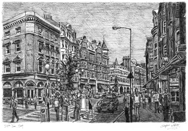 Marylebone High Street - original drawings and prints by Stephen Wiltshire