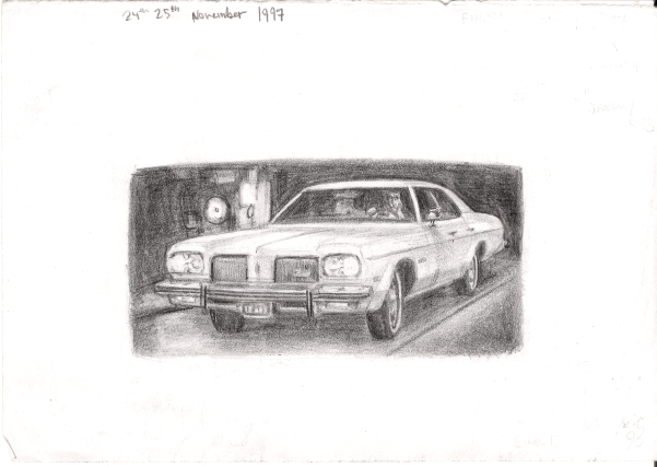 1974 Oldsmobile Delta 88 Royale - originals and prints by Stephen Wiltshire MBE