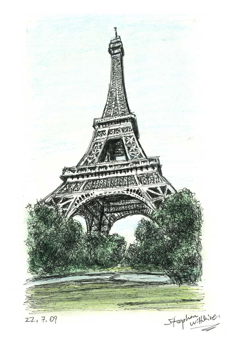 The Eiffel Tower Paris Original Drawings Prints And