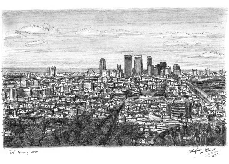 Century City, Los Angeles - original drawings and prints by Stephen Wiltshire