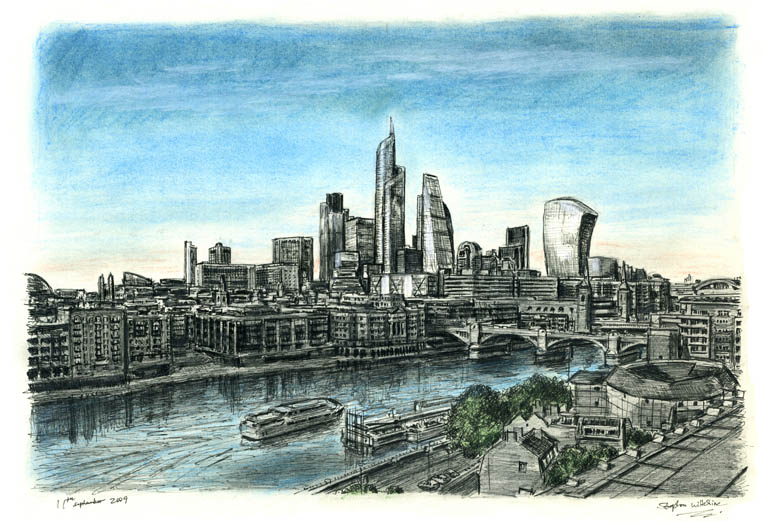 London 2012 - drawings and paintings by Stephen Wiltshire MBE